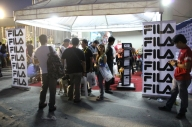 Fila booth at the VIP entrance.
