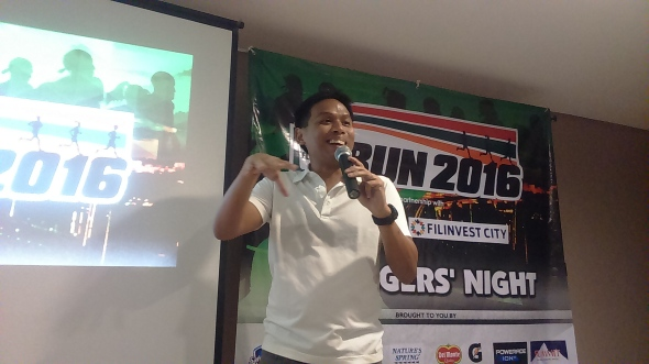 Mr. Neville Manaois of Race Mechanics, race director, explains the technical details of the race.